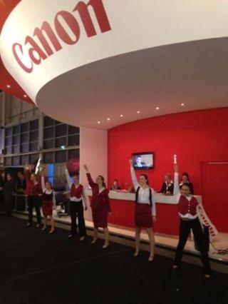 Stardancers voor Canon op vakbeurs 2013