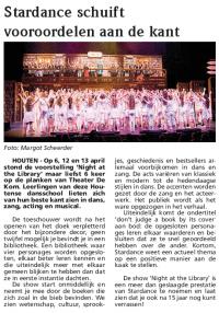 Recensie in 't Groentje Stardance show